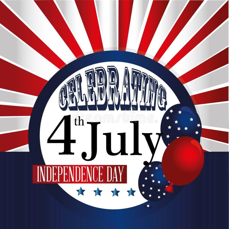 Celebrating fourth july stock illustration