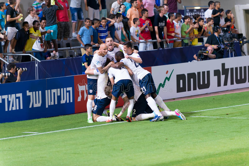 Download Celebrating a goal editorial photo. Image of team, soccer - 31438921