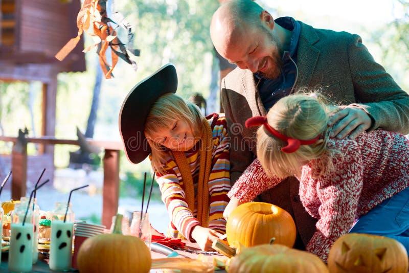 Celebrating Halloween stock images