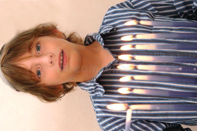 Download Celebrating hanukkah stock photo. Image of flame, celebrate - 1560242