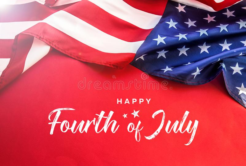 Celebrating Independence Day. United States of America USA flag background for 4th of July stock photo