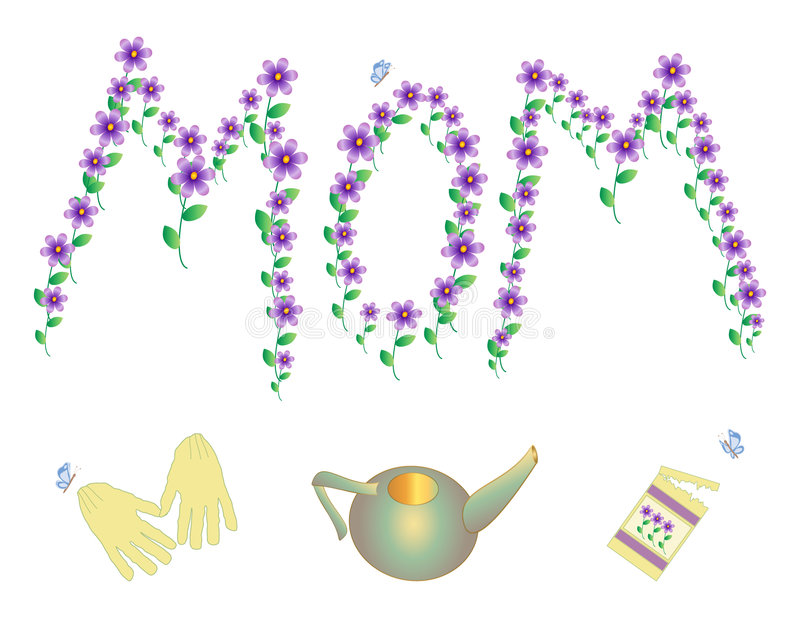 Celebrating MOM stock image