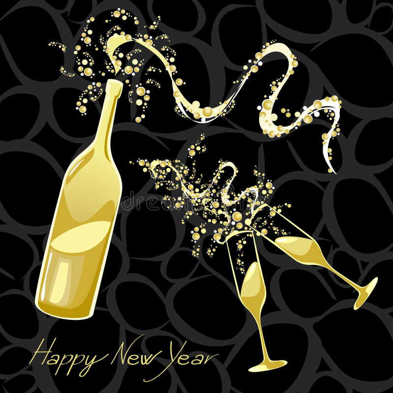 Celebrating the New Year stock illustration