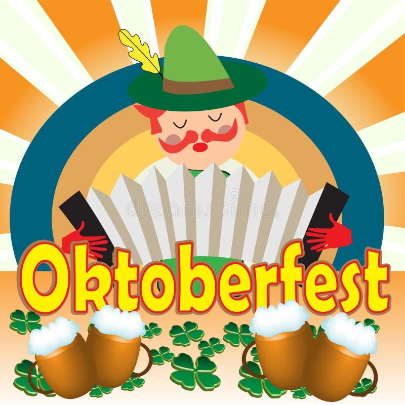 Celebrating Oktoberfest royalty free illustration