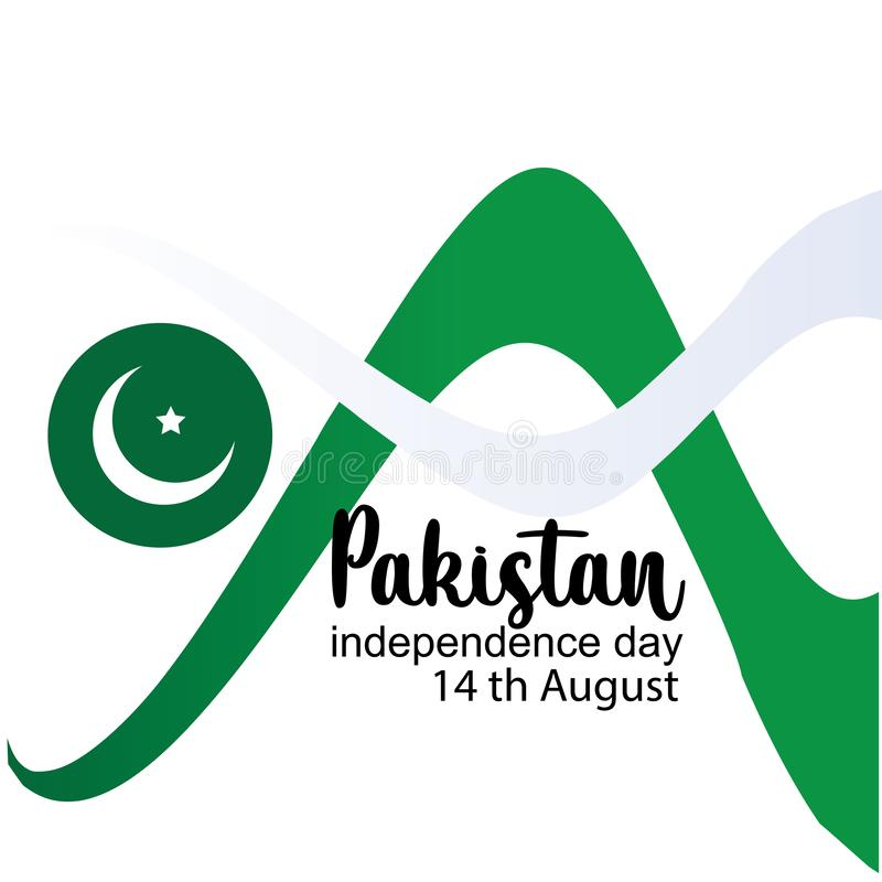 Celebrating Pakistan Independence Day creative vector illustration. 14th August pakistan independence. vector vector illustration