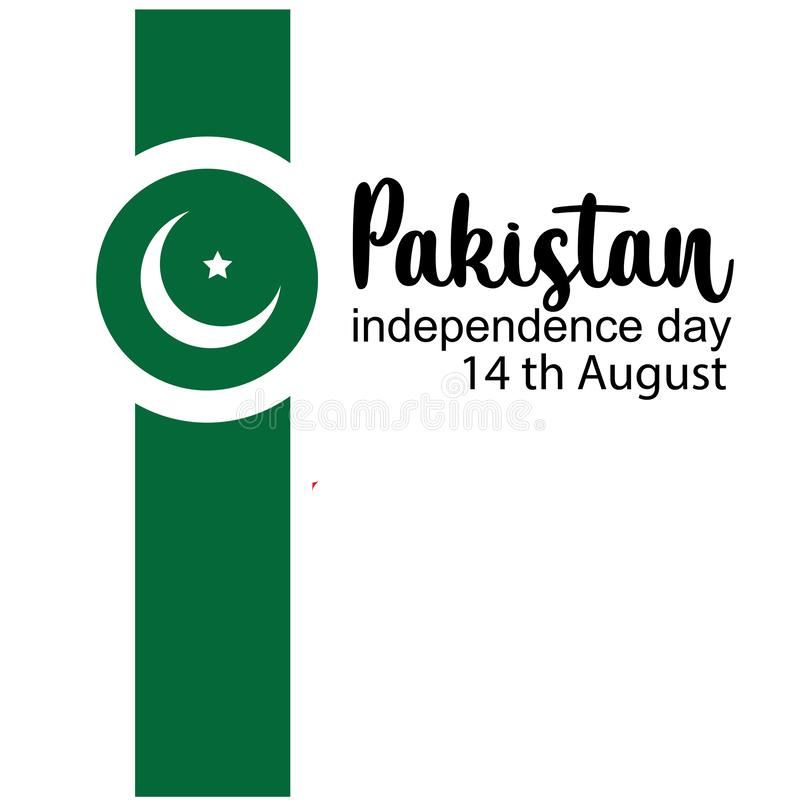 Celebrating Pakistan Independence Day creative vector illustration. 14th August pakistan independence. vector. Background flag white abstract celebration card vector illustration