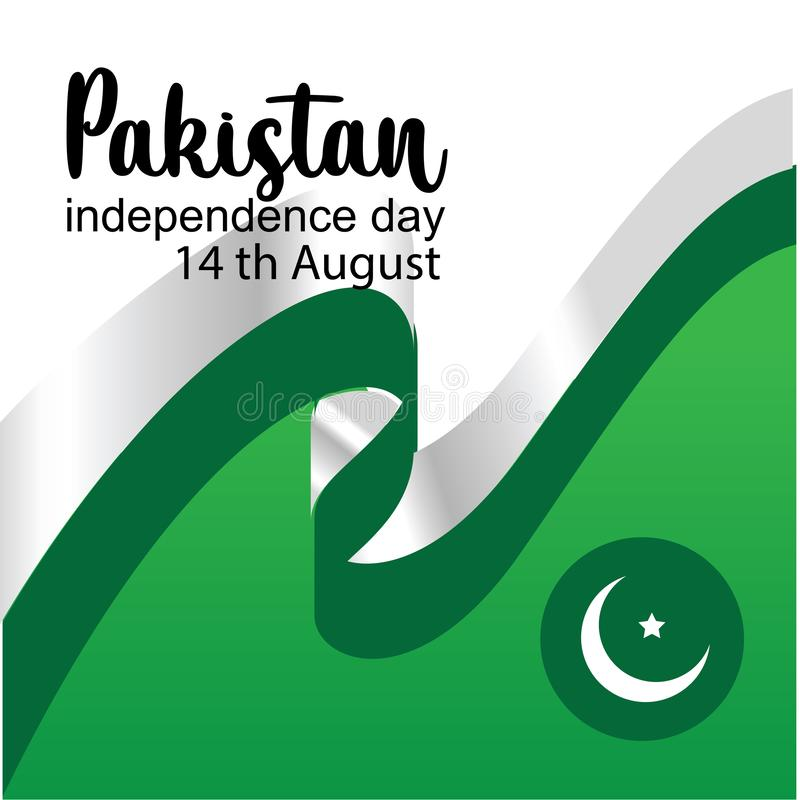 Celebrating Pakistan Independence Day creative vector illustration. 14th August pakistan independence. vector stock illustration