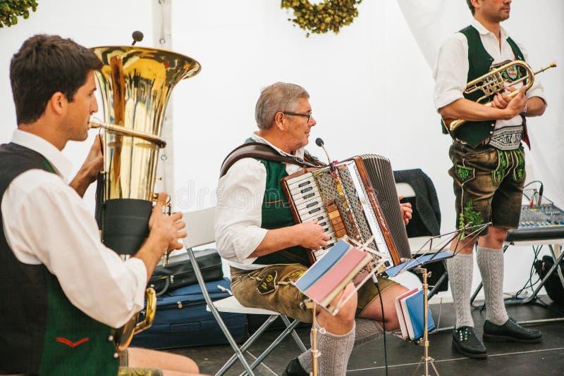 Prague, September 23, 2017: Celebrating the traditional German beer festival called Oktoberfest in the Czech Republic. Celebrating the traditional German beer stock photos