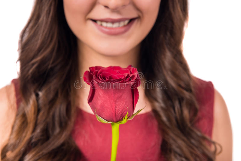 Celebrating Valentine's Day stock images