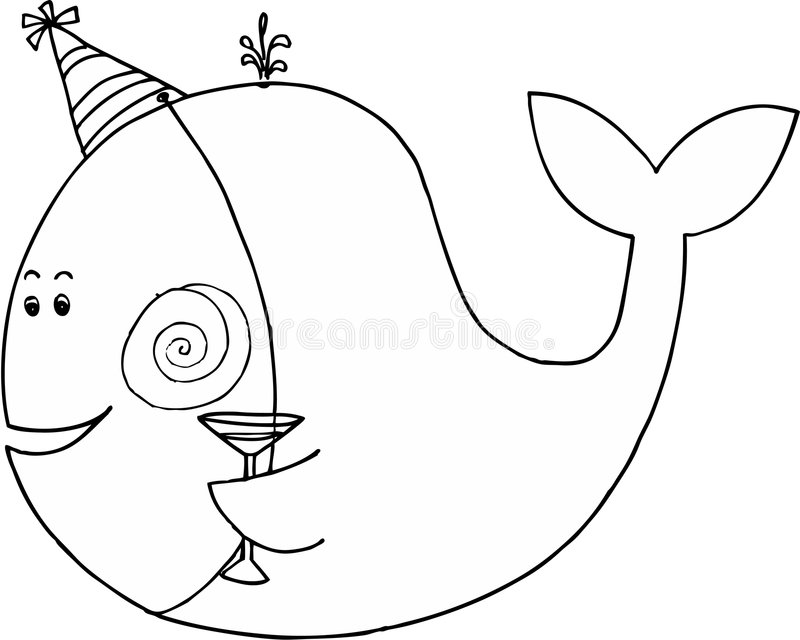 Download Celebrating whale stock vector. Image of goblet, holiday - 6976406