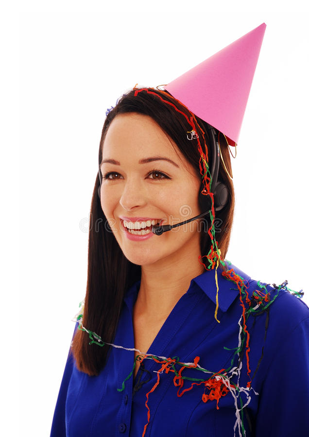 Celebrating At Work Royalty Free Stock Image