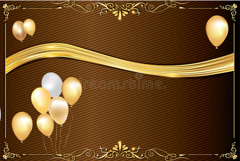 Celebration background with balloons. Celebration background for any occasion: winter holidays, wedding invitations, birthday greeting card, post cards. Print royalty free stock photo