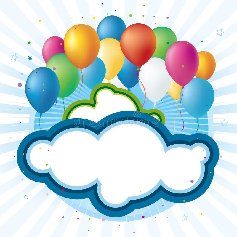 celebration balloons royalty free illustration