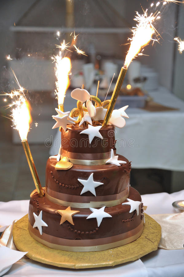 Celebration Cake stock image Image of fireworks fancy 36051243