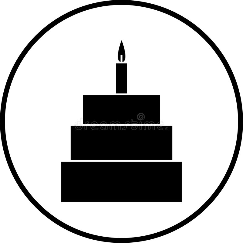 celebration cake vector symbol vector illustration