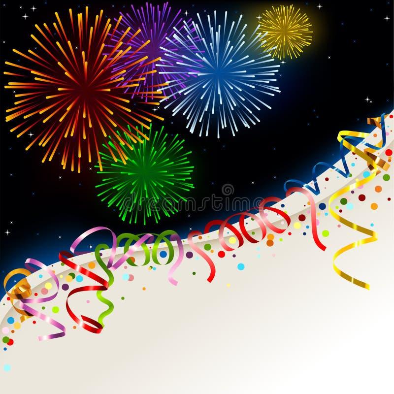 Download Celebration card stock vector. Image of sparks, greeting - 27027058