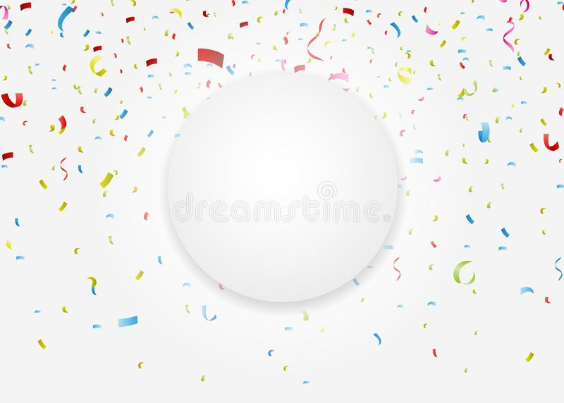 Download Celebration Card With Colorful Confetti Stock Vector - Illustration of background, congratulation: 39513572