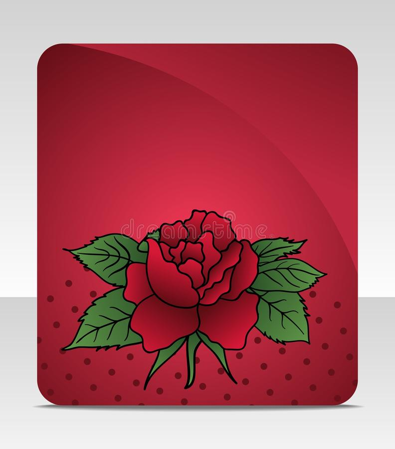 Celebration Card With Rose Royalty Free Stock Photo