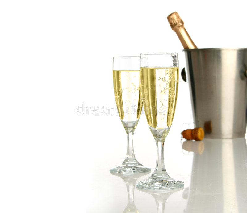 Celebration with champagne royalty free stock photos