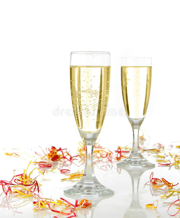 Celebration with champagne royalty free stock images