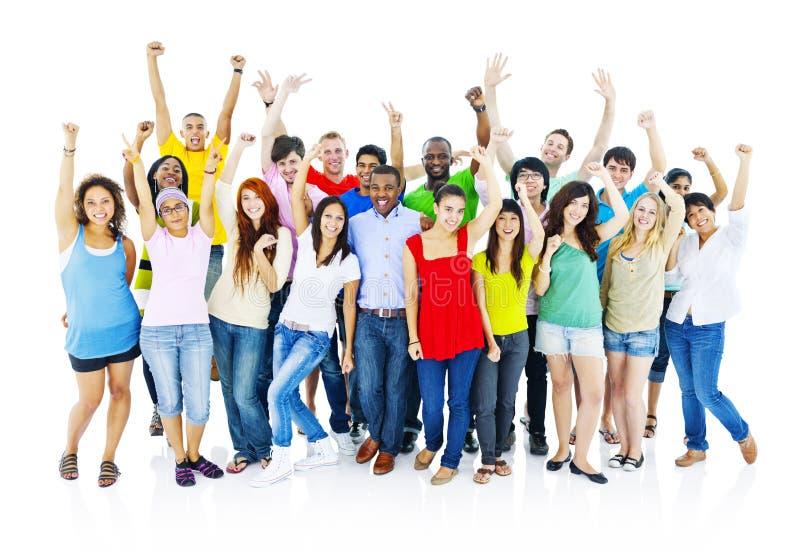 Celebration Cheering Fun Social Dancing Concept.  stock photos