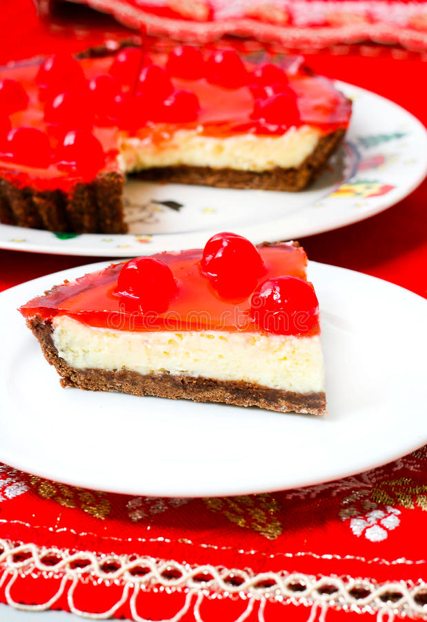 Download Celebration Cherry Cheesecake Dessert Stock Photos - Image: 27620223