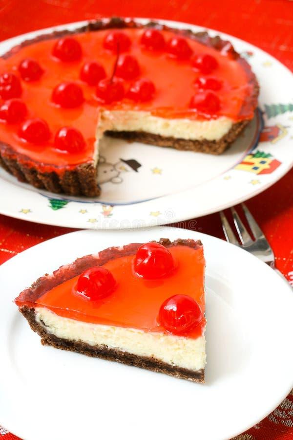Download Celebration Cherry Cheesecake Dessert Stock Photo - Image of baking, decoration: 27620226
