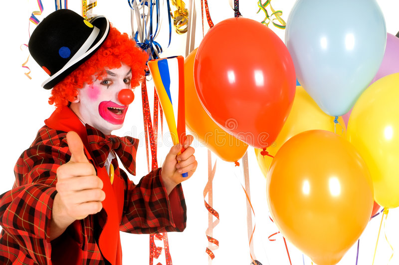 Celebration clown stock image