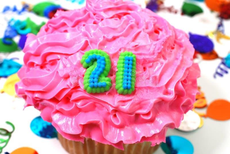 Celebration Cupcake - Number 21 Stock Photo