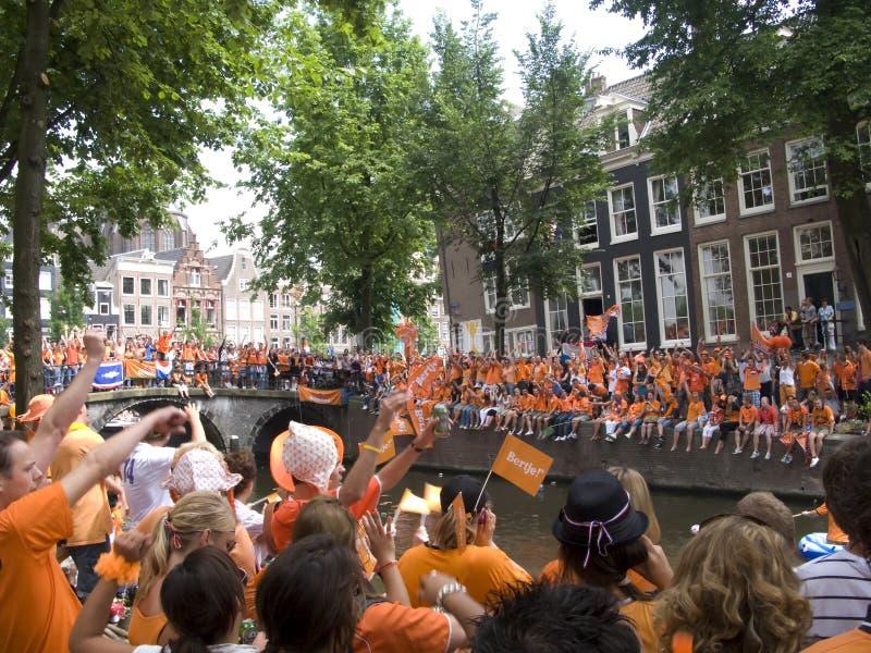 Celebration Dutch soccer team 2010 royalty free stock photos