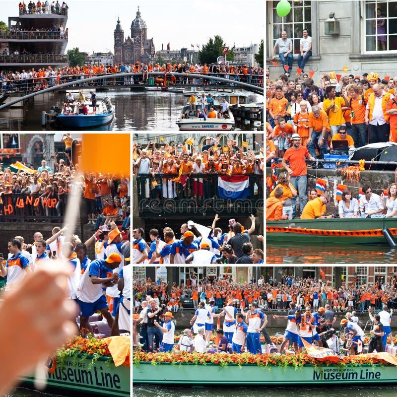 Free Celebration Dutch Soccer Team - Fifa WC 2010 Royalty Free Stock Image - 28142426
