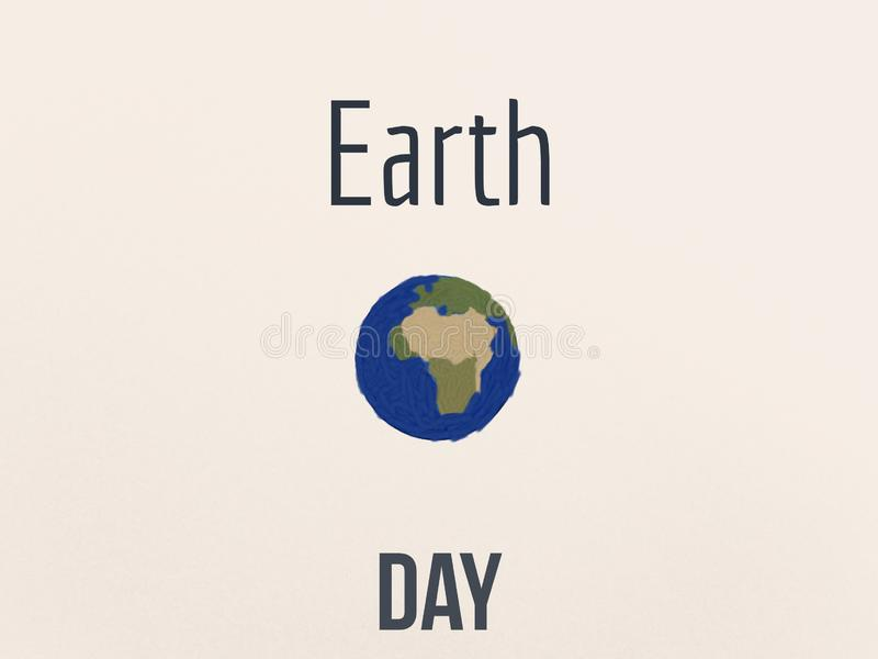 Celebration of earth day with beautiful wallpaper royalty free stock photos