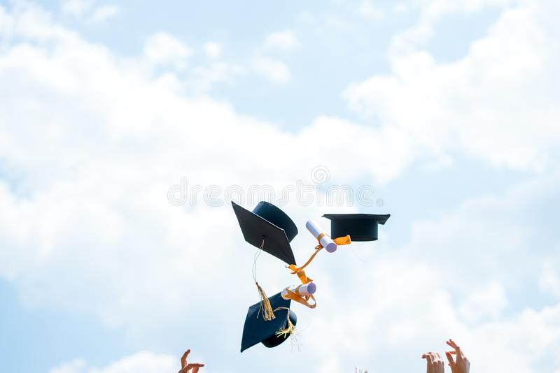 Celebration Education Graduation Student Success Learning Concept royalty free stock photo