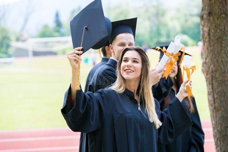 Celebration Education Graduation Student Success Learning Concept royalty free stock photos