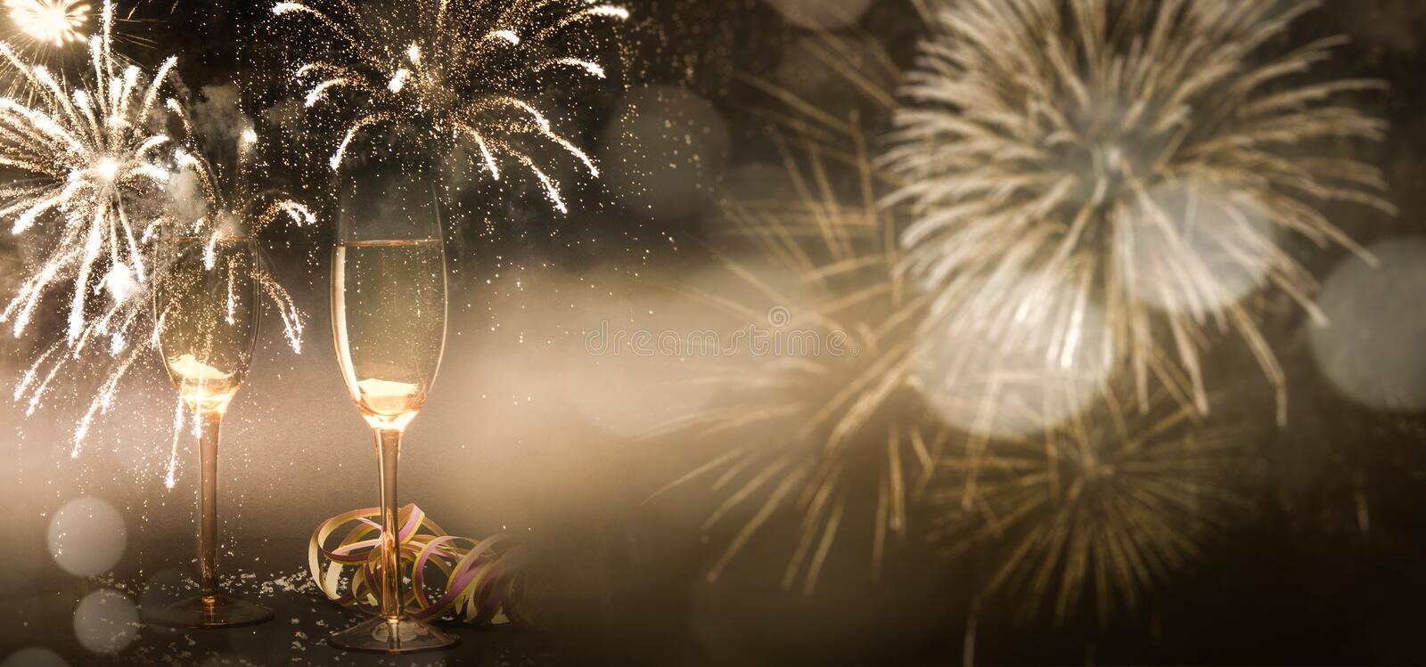 New Year`s Eve new year celebration fireworks stock photography