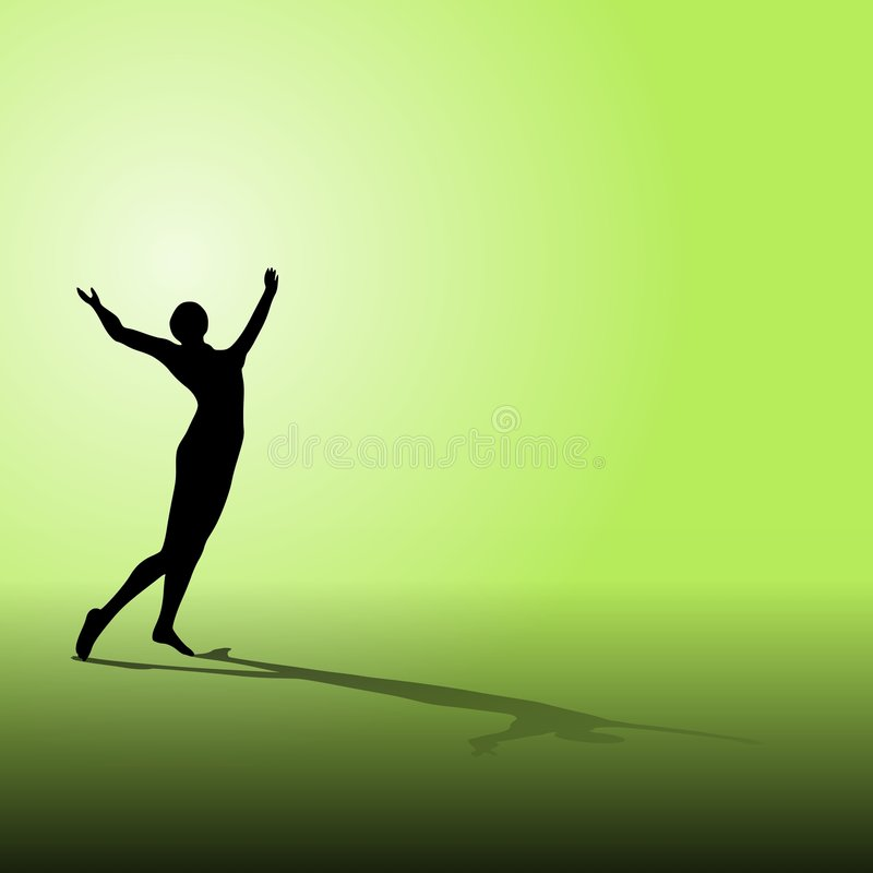 Celebration Fitness Silhouette Royalty Free Stock Photography