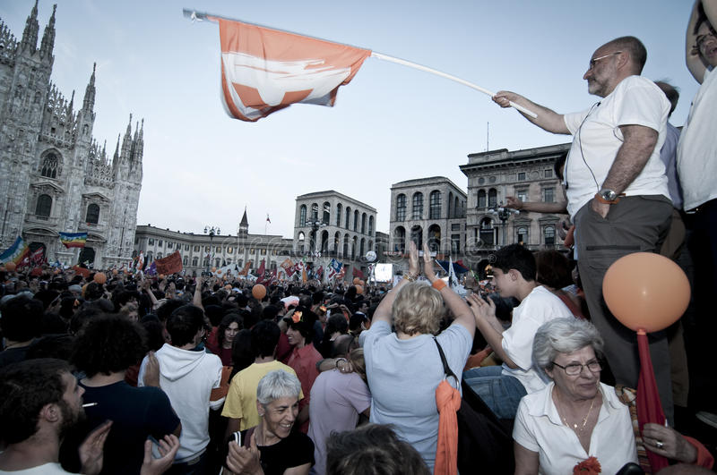 Download Celebration Giuliano Pisapia Election May, 30 2011 Editorial Image - Image: 19714110