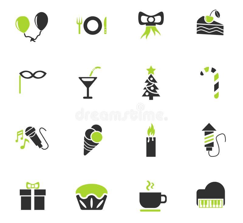Celebration icon set. Celebration web icons for user interface design royalty free illustration