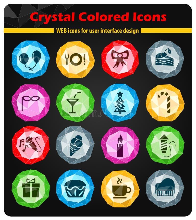 Celebration icon set. Celebration web icons for user interface design stock illustration