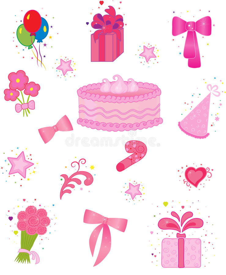 Download Celebration icons stock vector. Image of blower, cake - 14852457