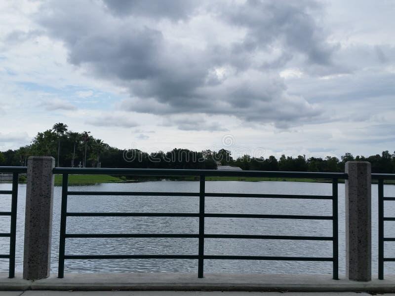 Celebration lakefront. Amazing view at celebration, Florida stock images