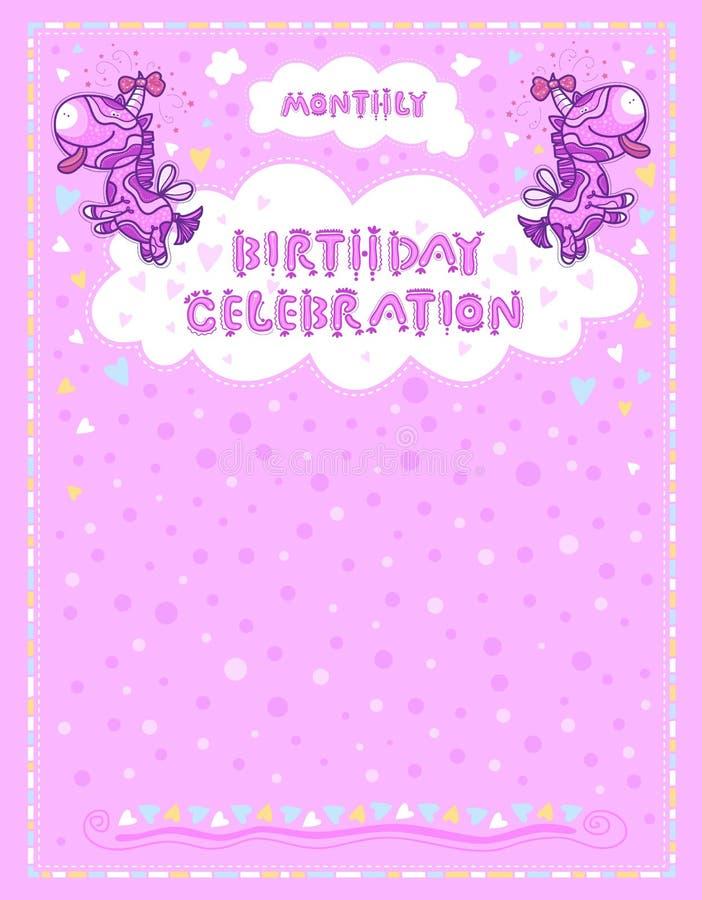 Celebration Letter For Birthdays Children Stock Vector
