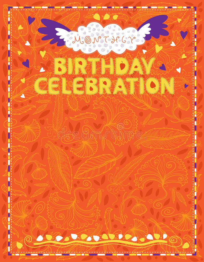 Celebration Letter For Birthdays Office Staff Stock Vector - Image