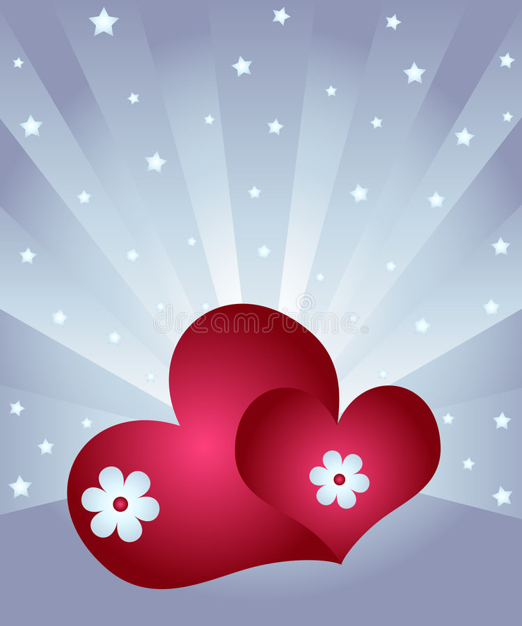 Celebration of love stock illustration