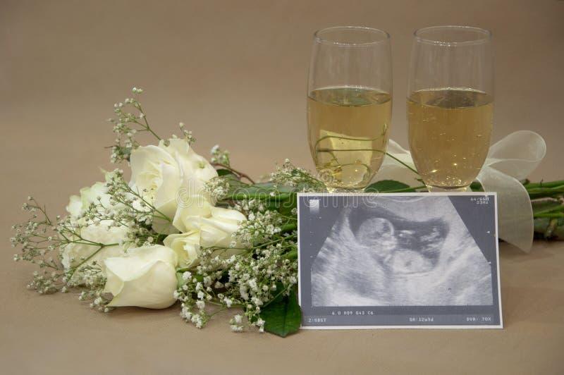 Celebration of new life royalty free stock photo