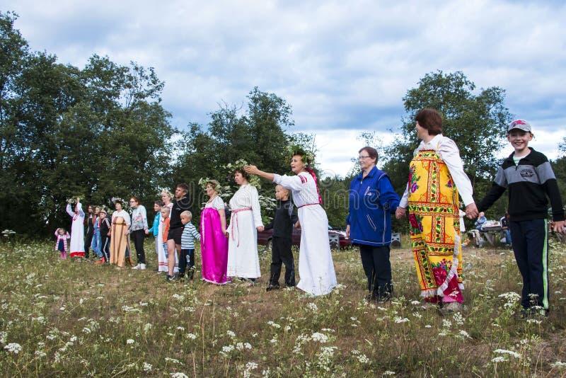 Celebration of the night of Ivan Kupala stock images