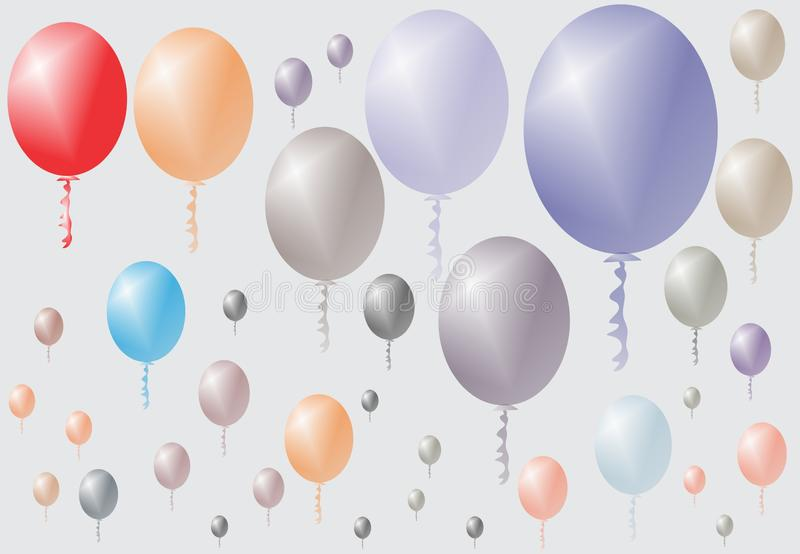 Celebration party function anniversary with balloon background. Many uses for advertising, book page, paintings, printing, mobile wallpaper, mobile backgrounds vector illustration