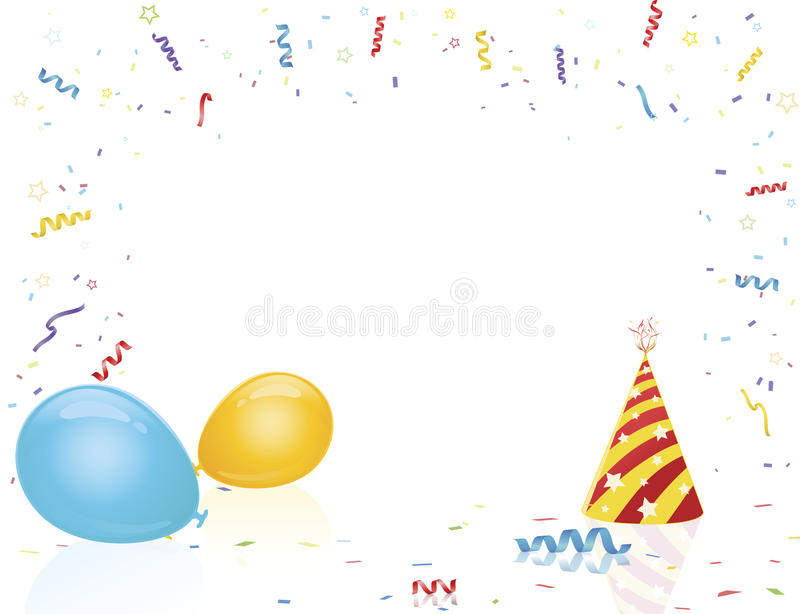 Download Celebration Party Hat And Balloons Stock Vector - Image: 17730273