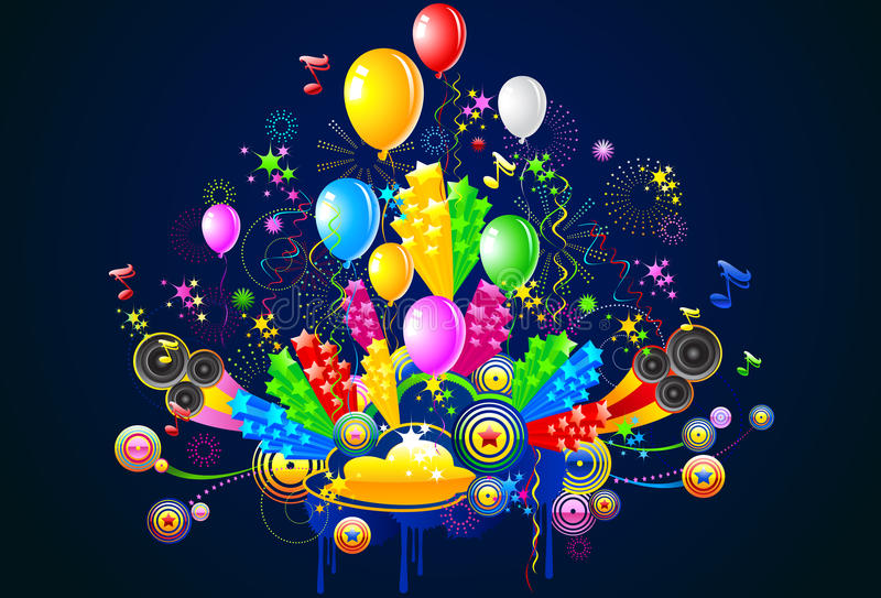 Celebration and Party Illustration royalty free stock photos