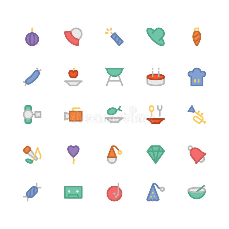 Celebration and Party Vector Icons 4 royalty free illustration
